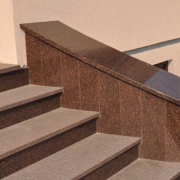 Schody kamienne z granitu TOKOWSKI + RUBY STAR