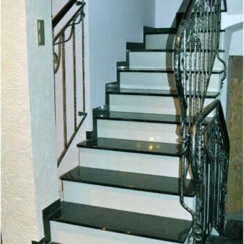 Kamienne schody z granitu ABSOLUT BLACK PREMIUM