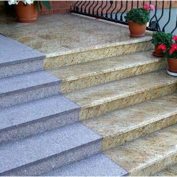 Kamienne schody z granitu TOKOWSKI + MADURA GOLDKamienne schody z granitu TOKOWSKI + MADURA GOLD